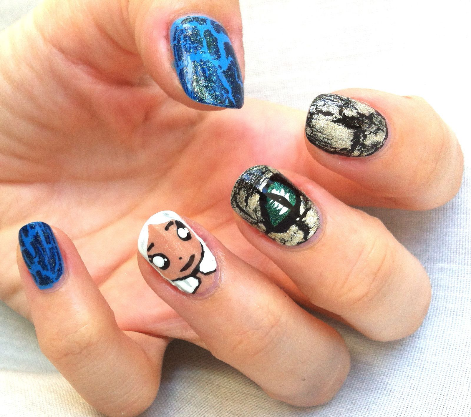 game of throne nails - Daenerys style