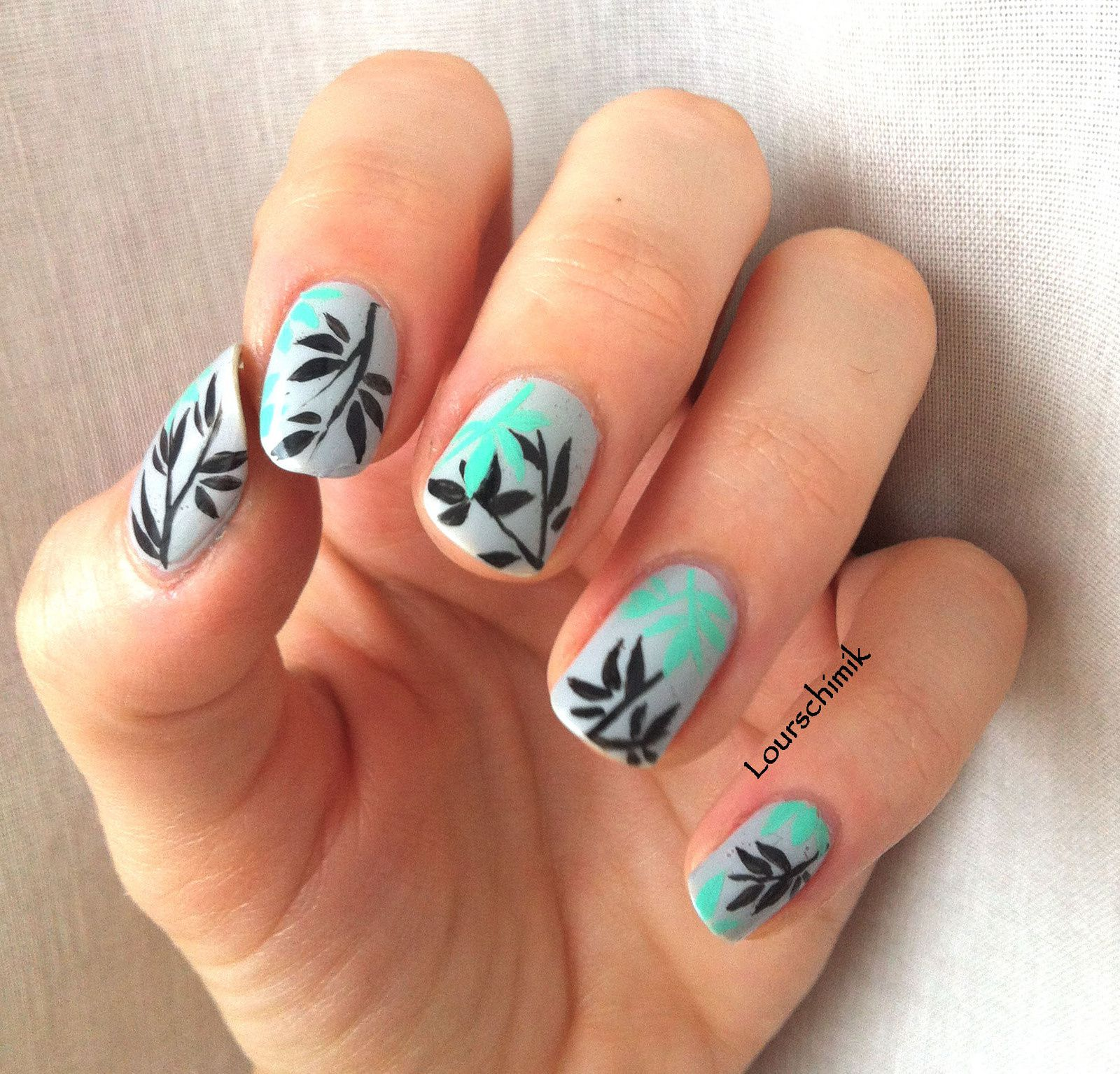nail art bambou