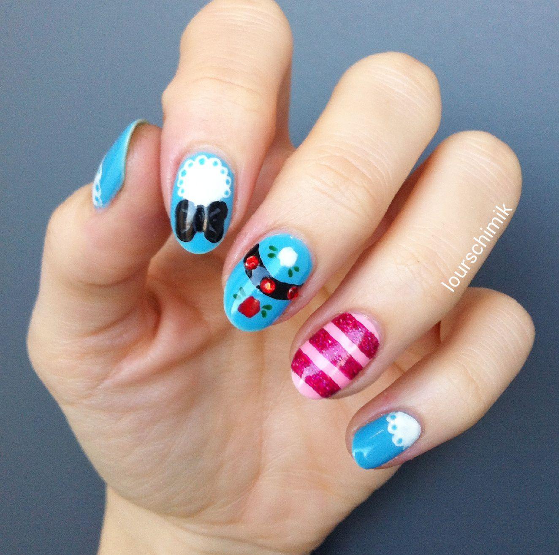 disney nails - Alice au pays des merveilles