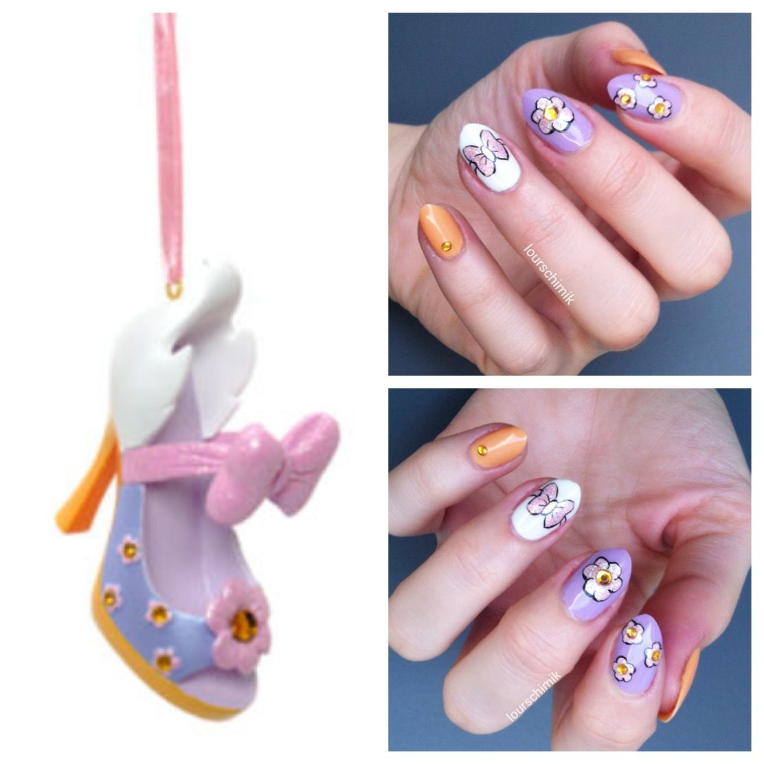 Disney nails - Daisy Duck