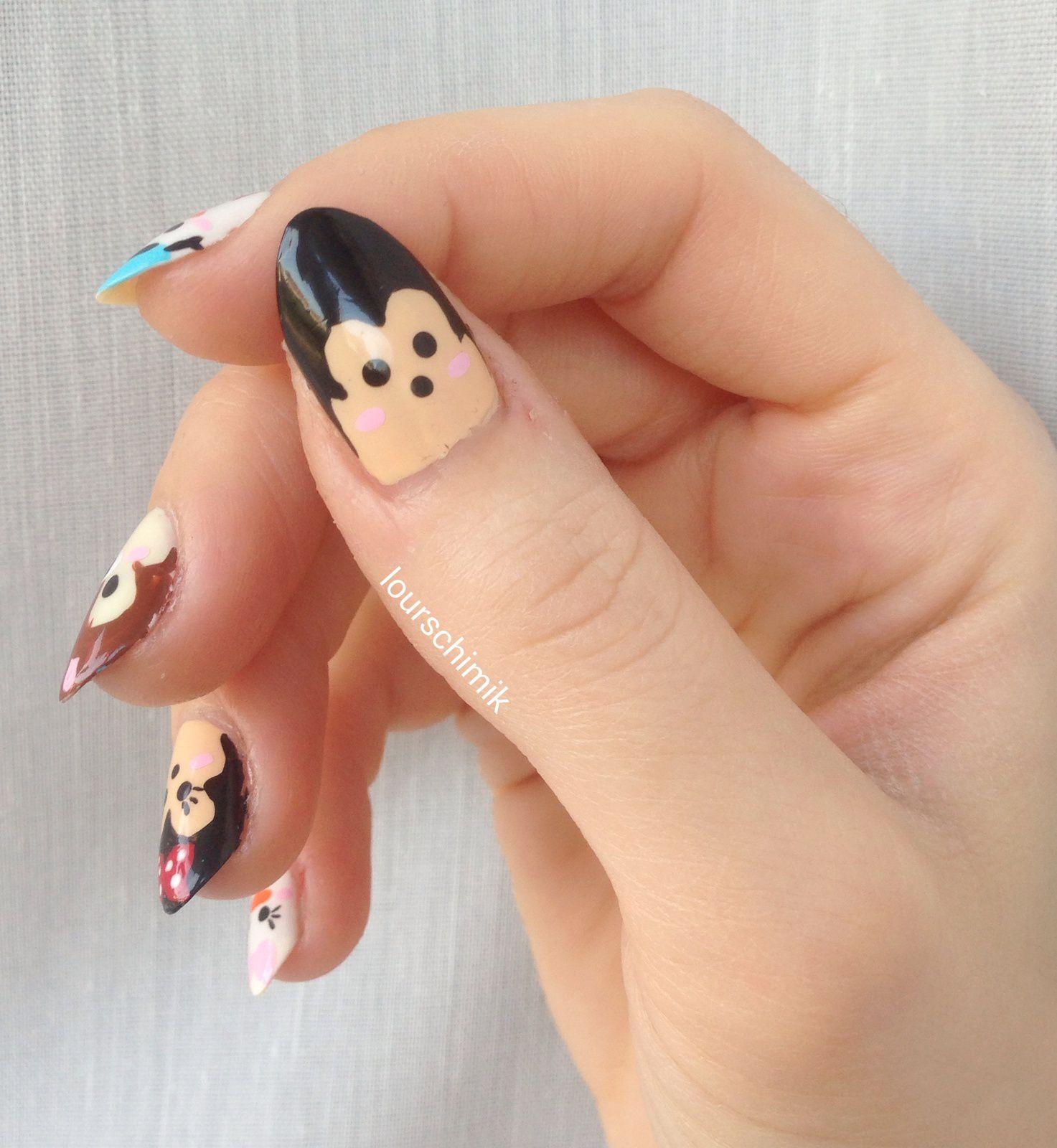 nail art Disney tsumtsum