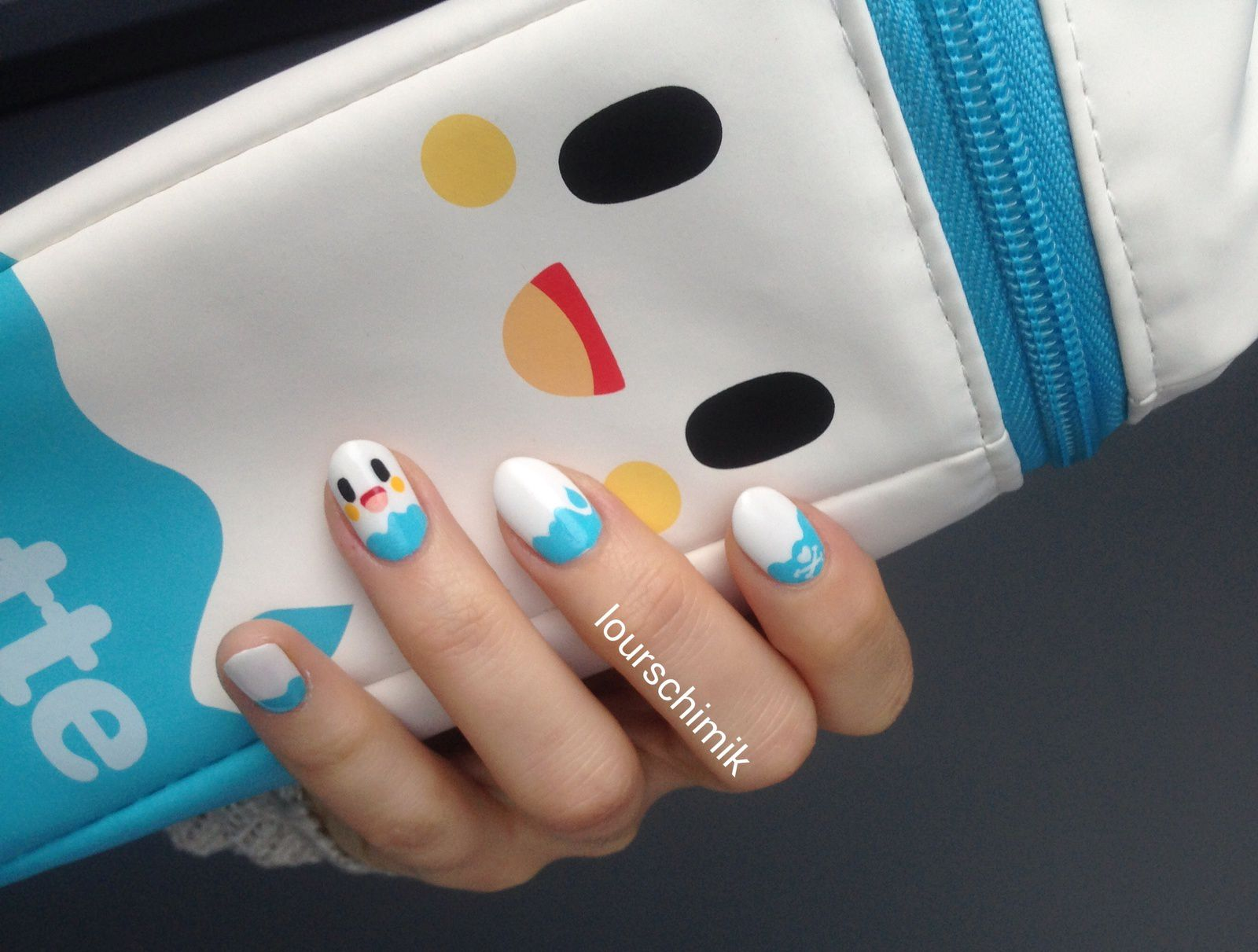 tokidoki milk nail art