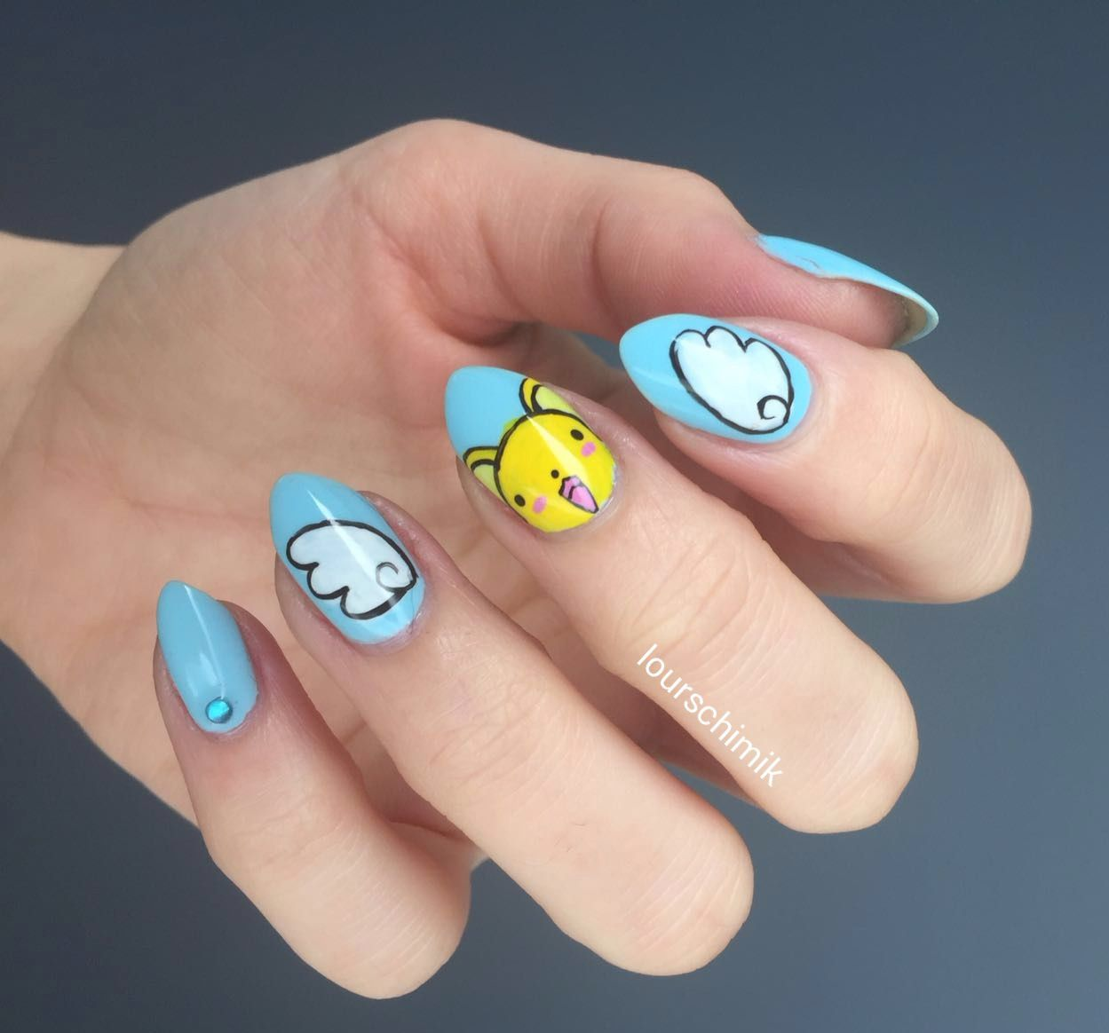 card captor sakura nails - kero