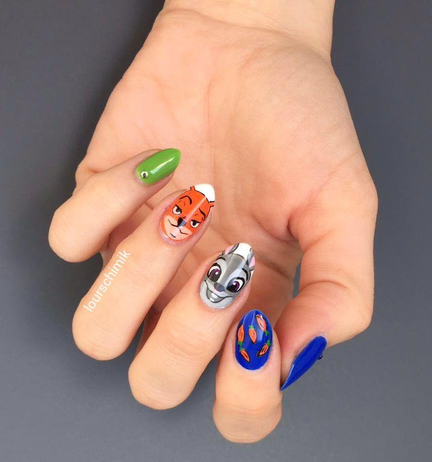 nail art zootopie