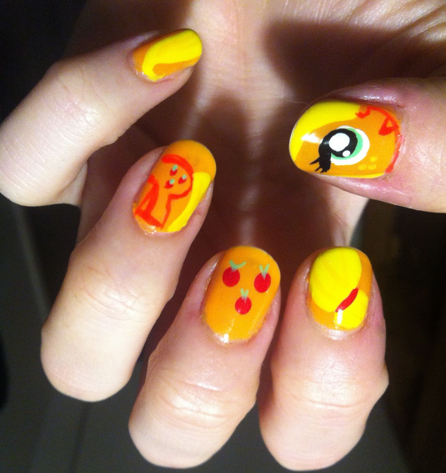 my little pony nails -applejack