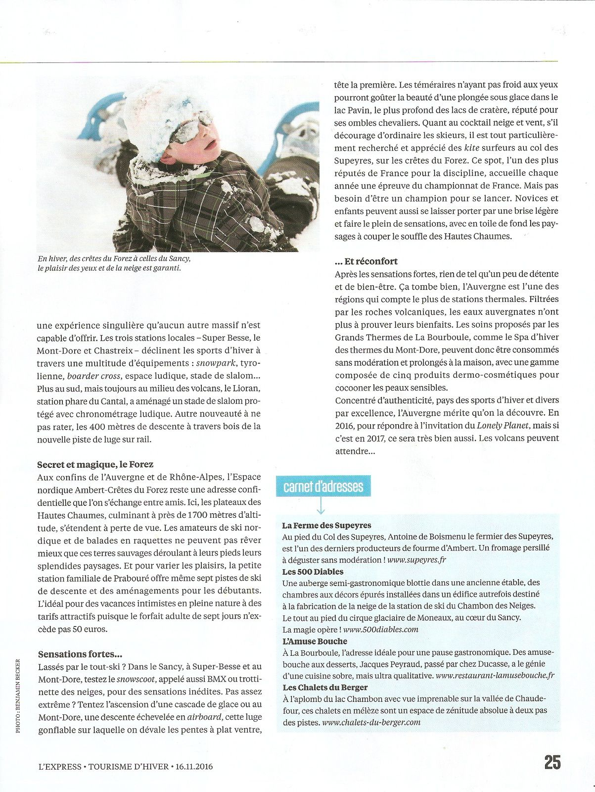 L'Express hiver 2016-2017