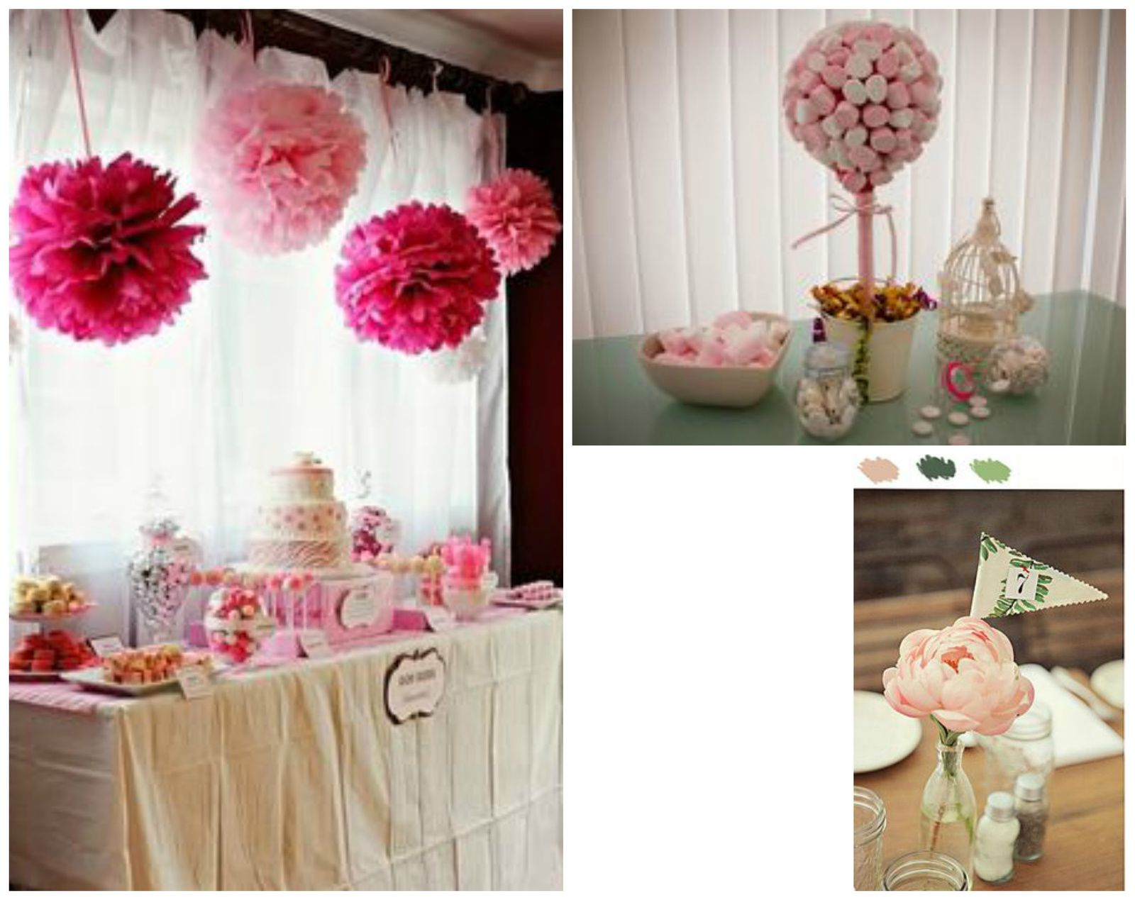 Deco Table Bapteme Fille Rose Blanc : La deco pimprelys