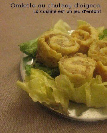Omlette au chutney d'oignon