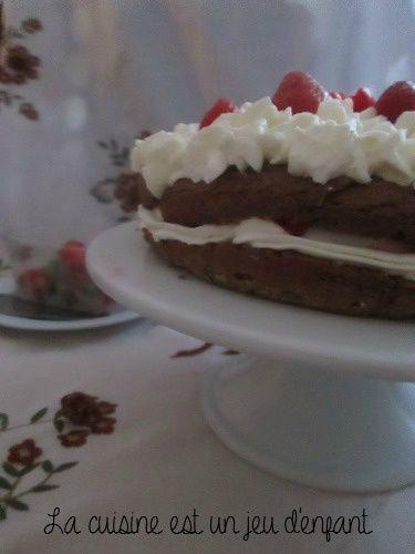 Gâteau fraise/chocolat