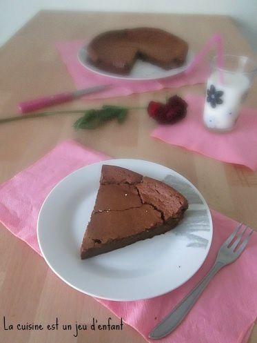 Le Luflee {fondant au chocolat et au fromage blanc - sans beurre}