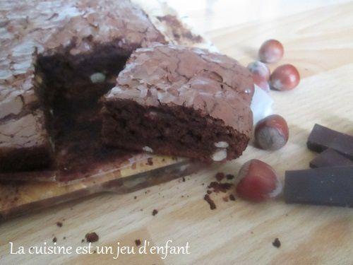 Brownie au chocolat et noisettes