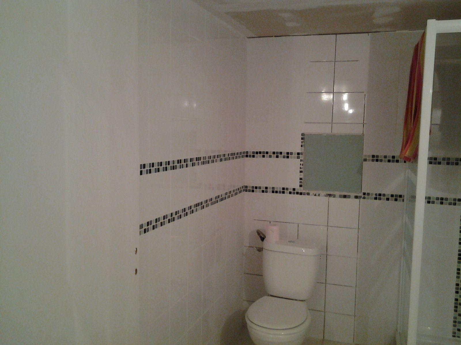 la salle de bain est jointer en partie, petit a petit...