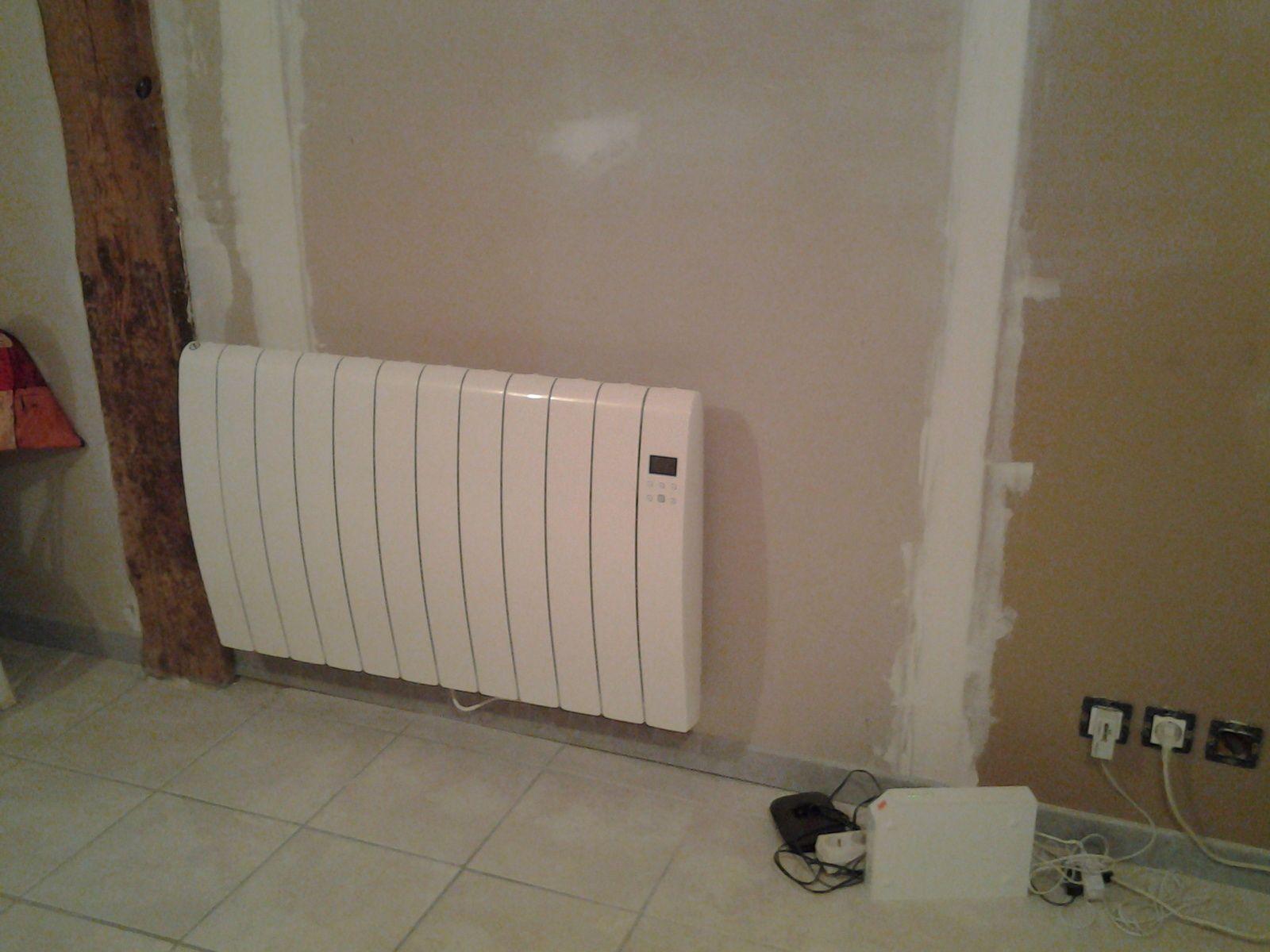 le radiateur est maintenant poser.