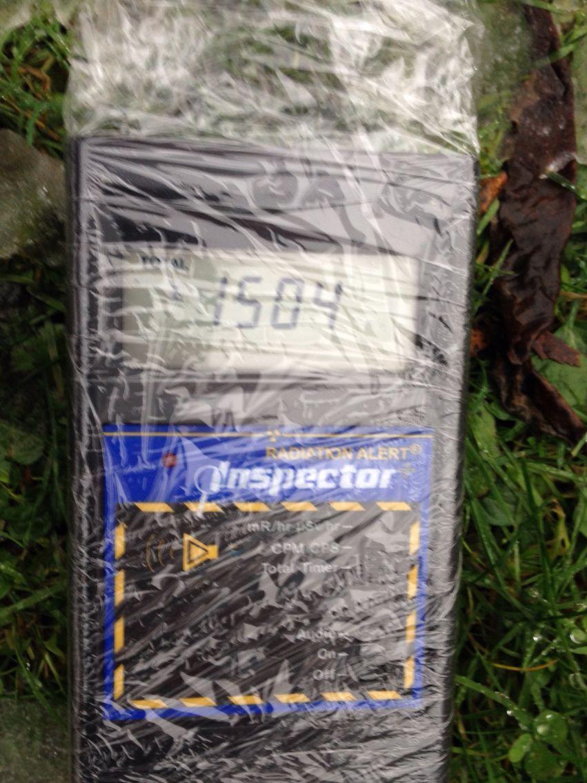 Tests Geiger du jour sur la pluie ( 24 nov 2014)
