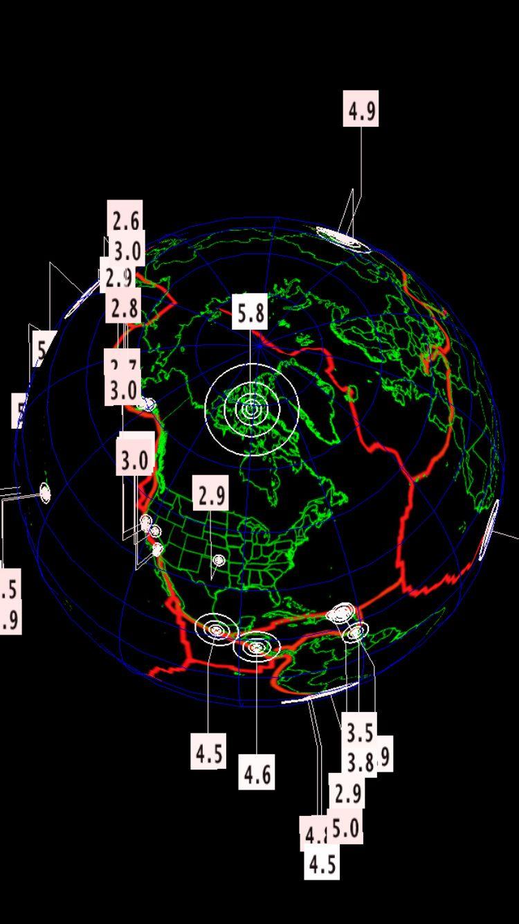 Très rare séisme de magnitude 5.8 au Nunavut