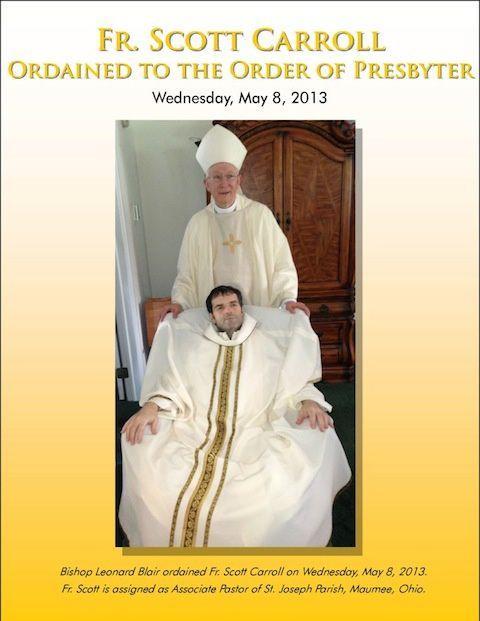 Prêtre sur terre pendant 40 heures