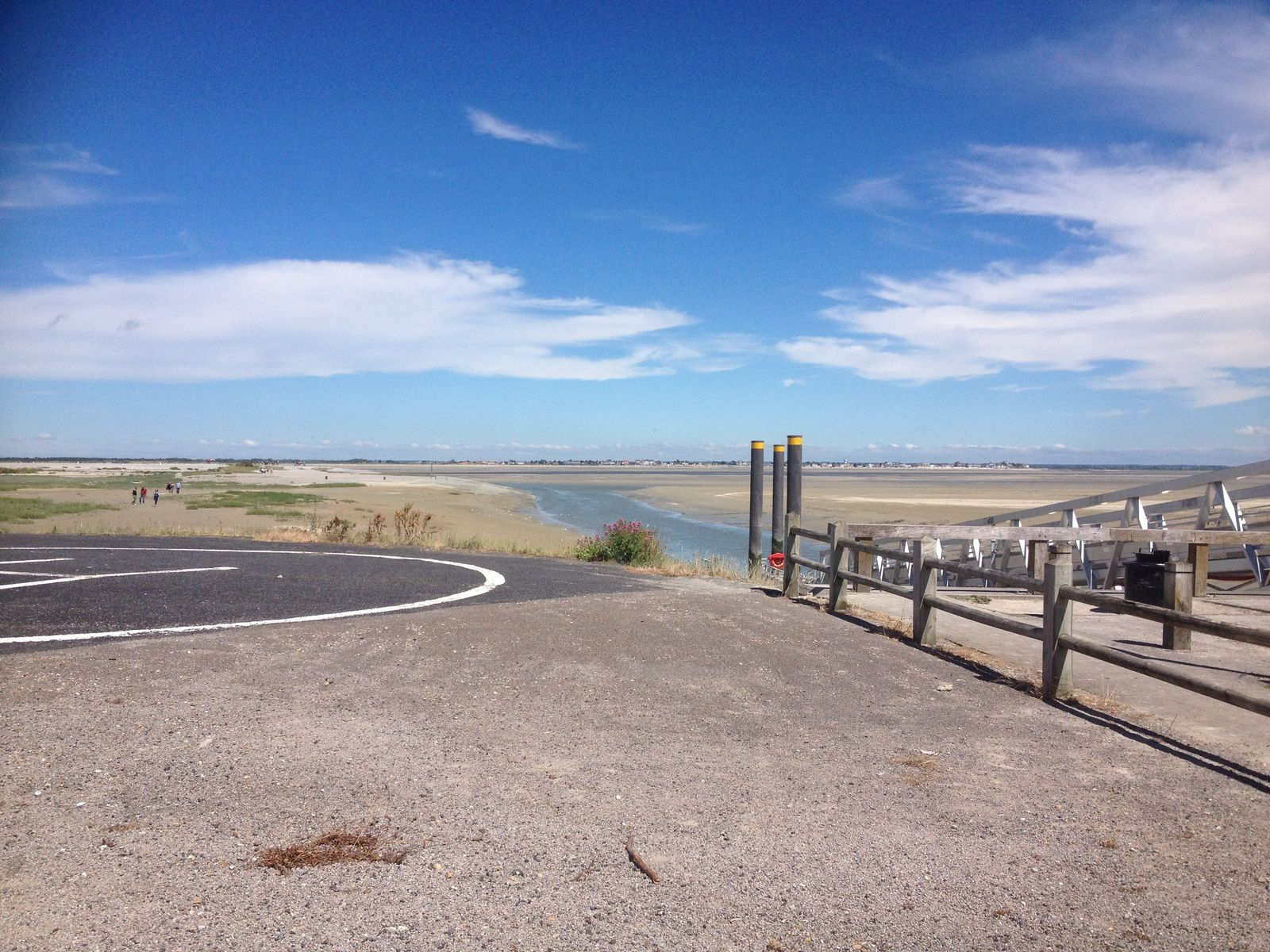 """Une pause sur """" La traverse du Ponthieu"""" une galère en vélo de route , puis le pique- nique à la Maison de la baie de Somme"""