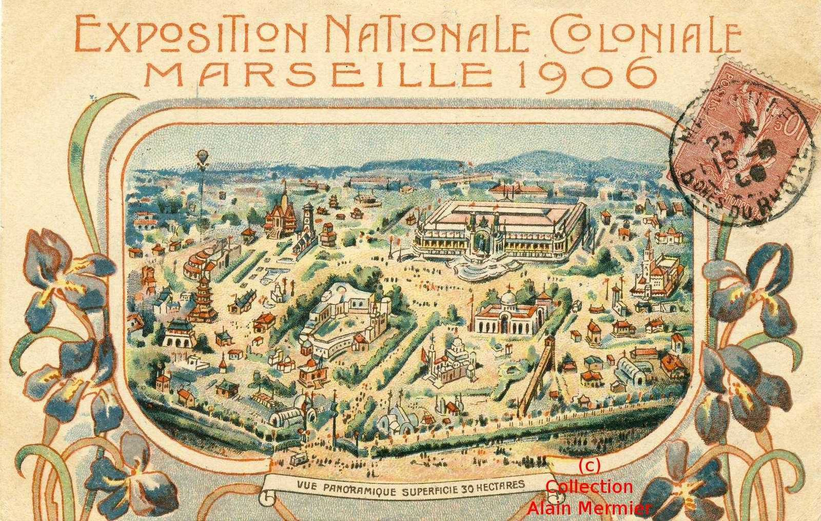 >>>>>>>>>>   EXPOSITION NATIONALE COLONIALE . MARSEILLE - 1906  <<<<<<