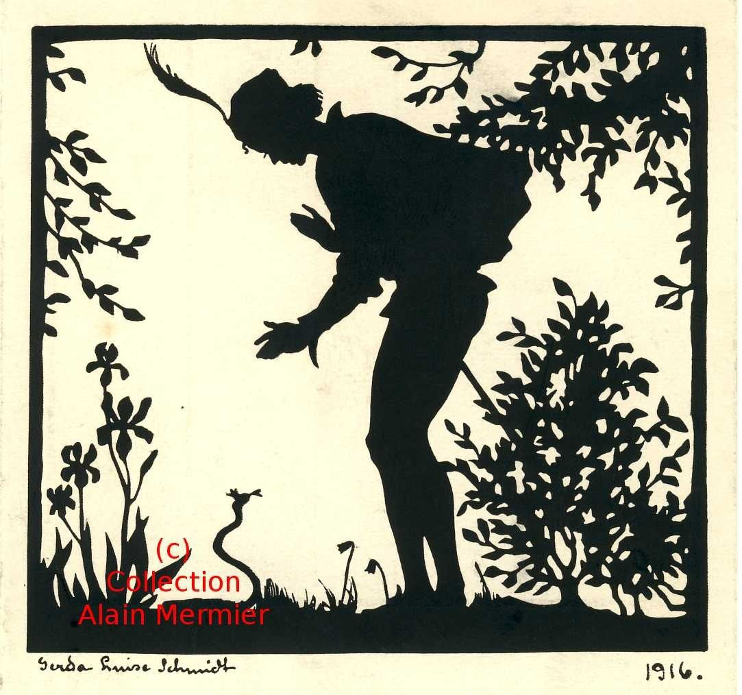 >>>>>>>>>>> Silhouette : The prince meets the small one  crowned snake. <<<<<<<<<<