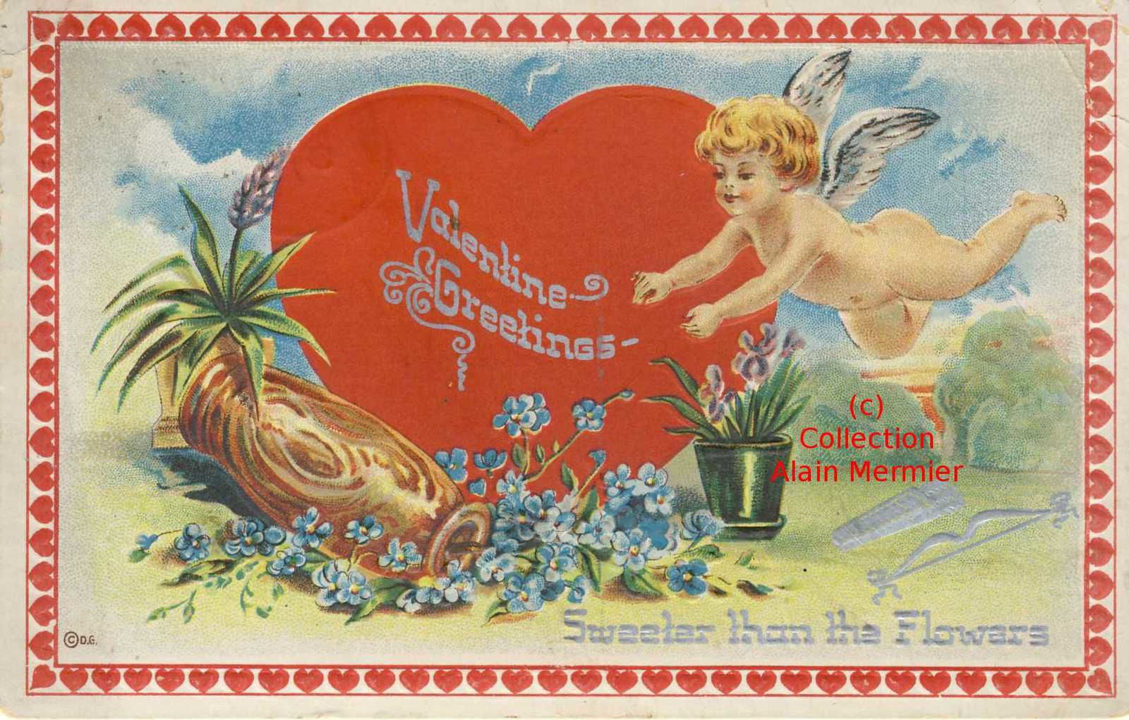Iris -3460- Valentin's greetings. Sweeter than the flowers. USA.