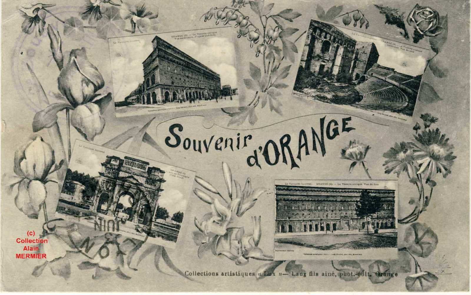 Iris -2128- Multivues : Souvenir d'ORANGE. France. 1915.
