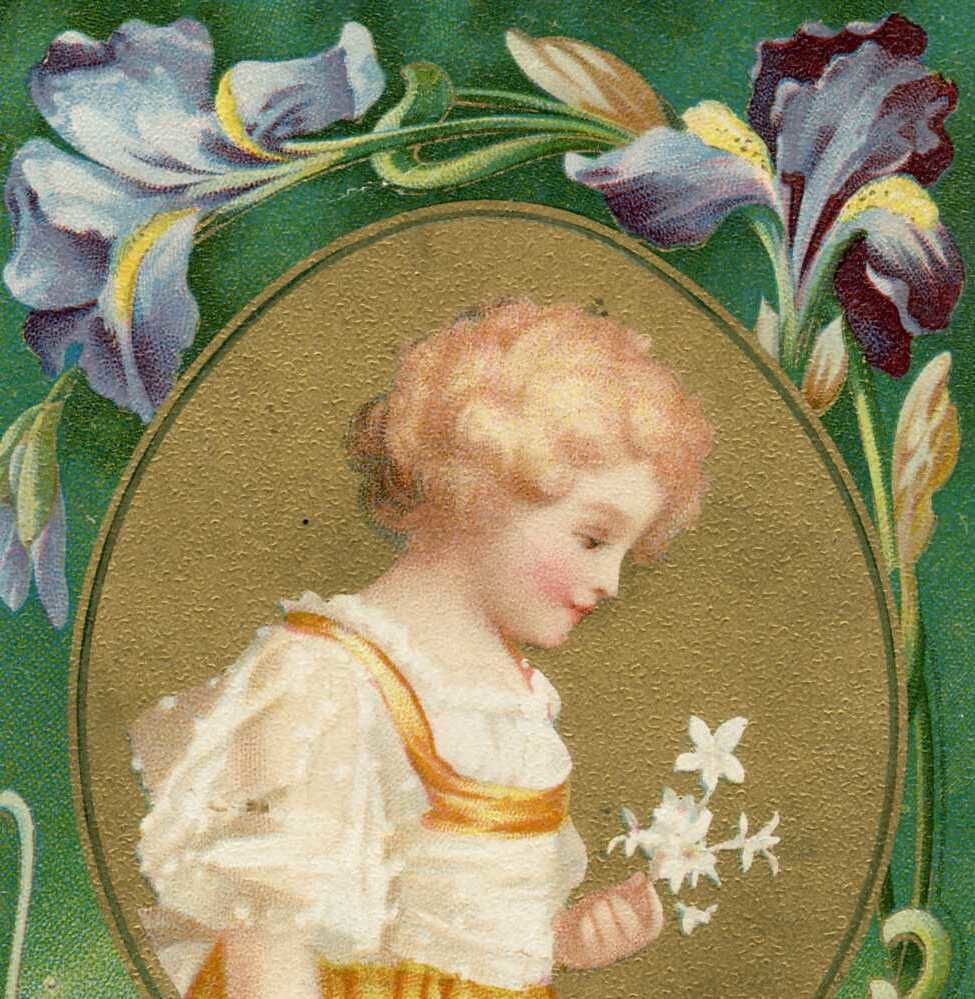 Iris -2101- Forever thine. Enfant blond. USA. 1907.