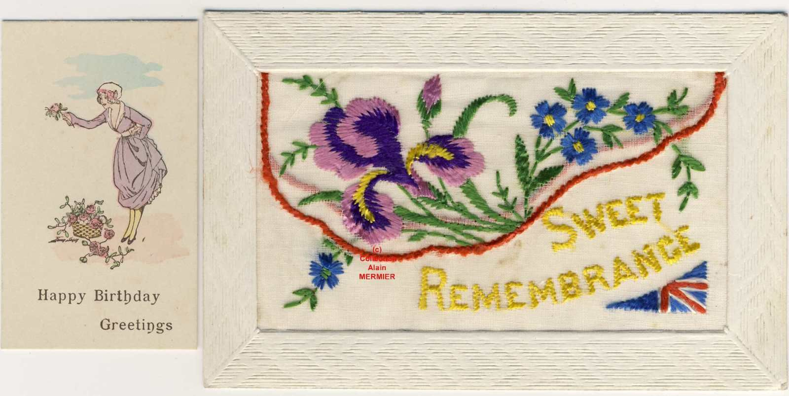 Iris -2097- Brodée. Sweet remembrance. France. 1918.
