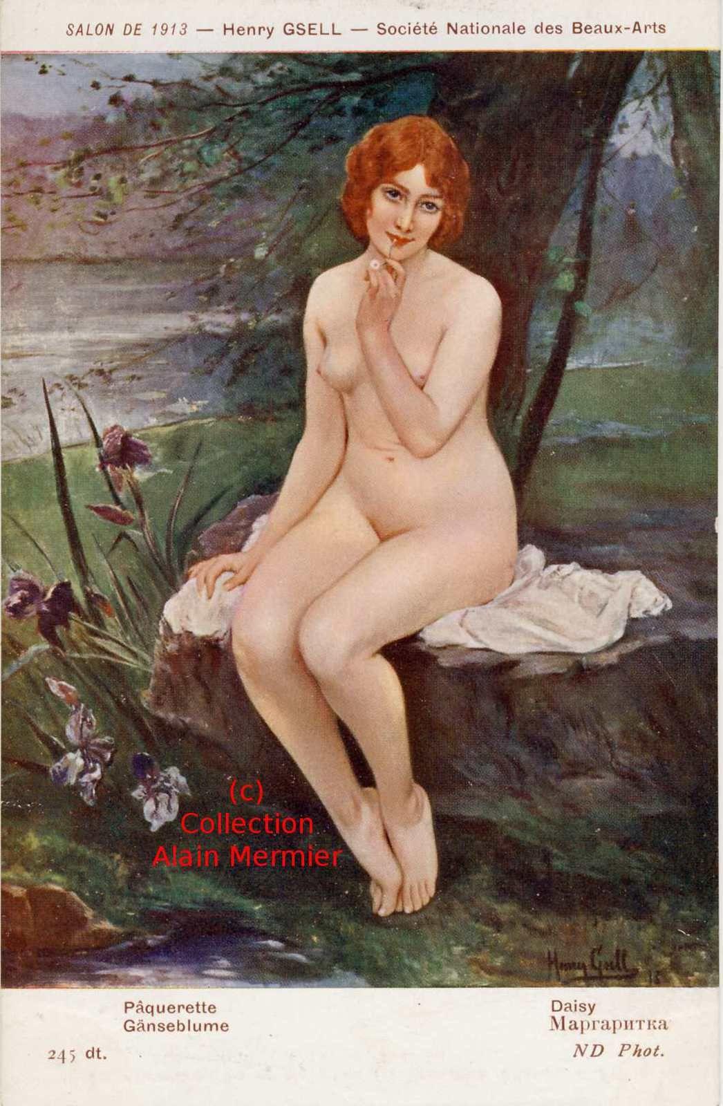 Iris -2068- Illustrateur GSELL Henri : Pâquerette. Salon de 1913. France.