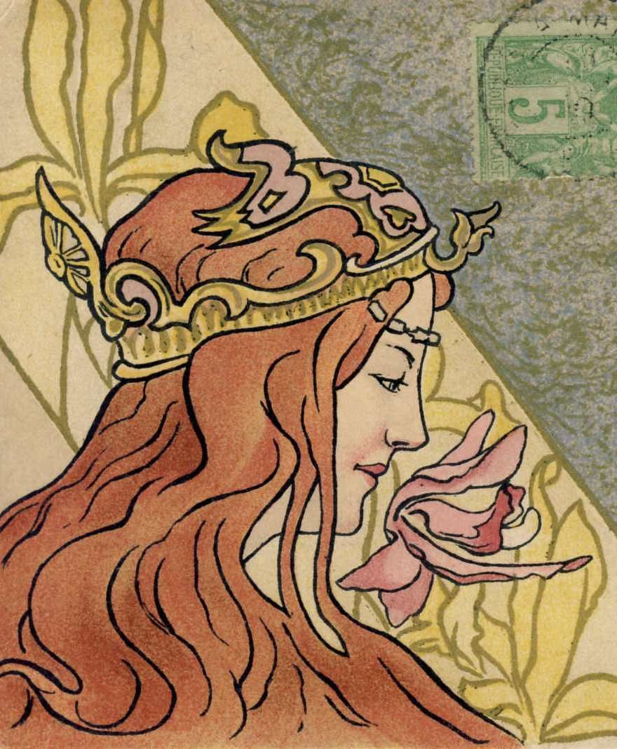 >>> Anonymous illustrator.  Crowned woman. <<<