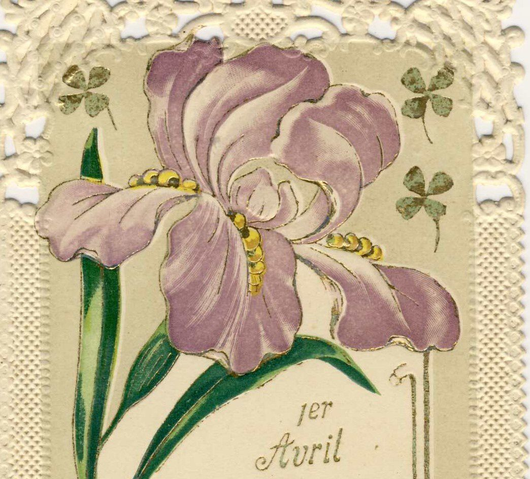 Iris -2015- 1 avril. Simili dentelle. France. 1911.