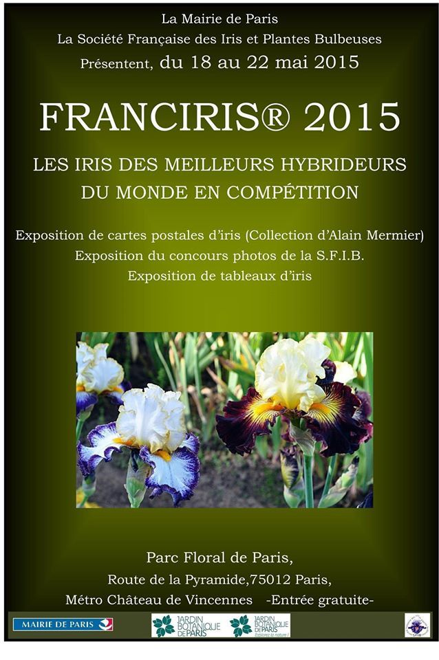 L'affiche définitive de l'Exposition FRANCIRIS 2015.