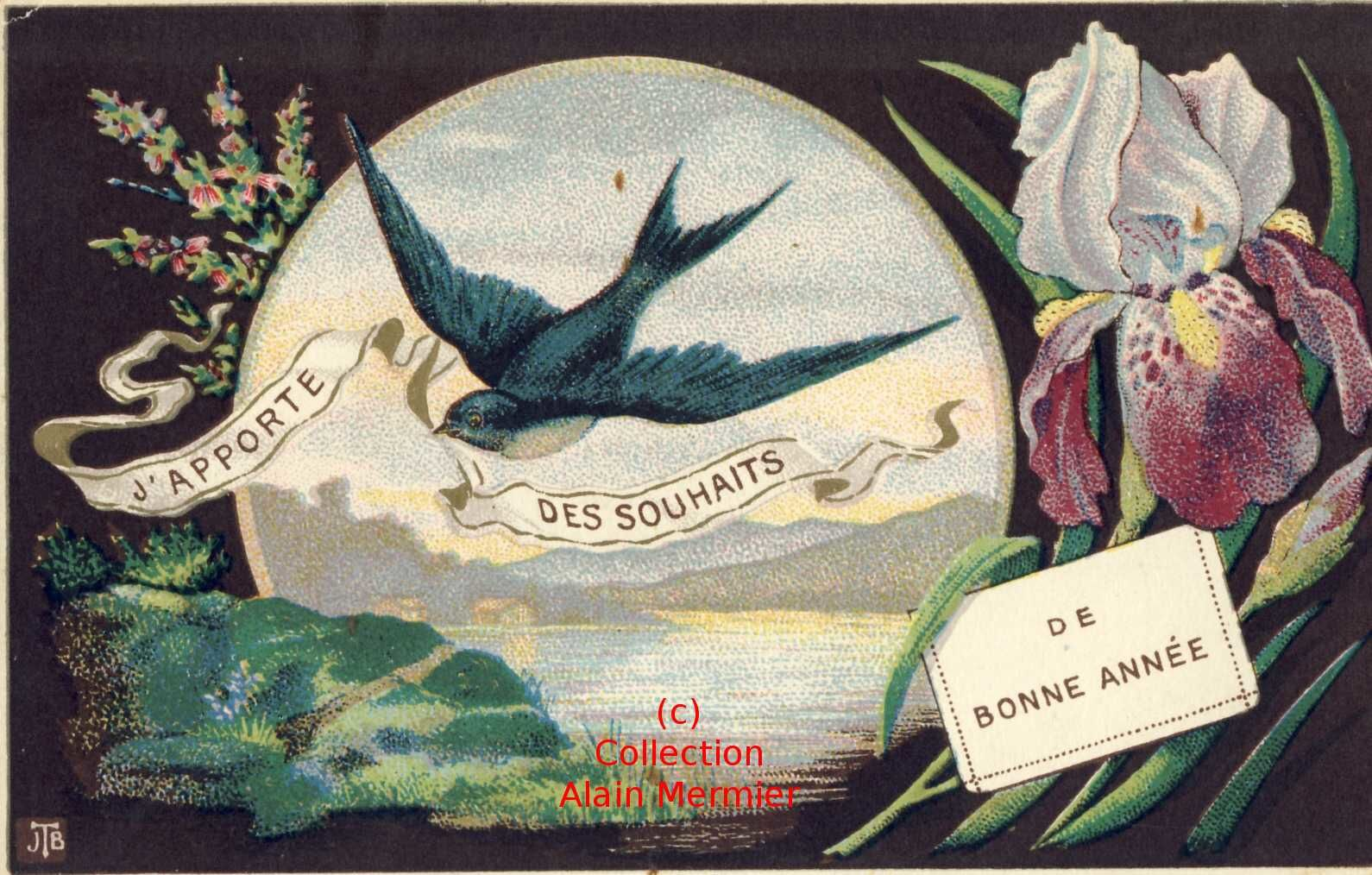 1120-I bring wishes of good year. Swallow. France.