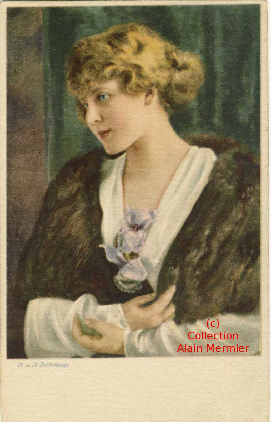 Iris -3625- R und M DÜHRKOOP : portrait de femme. Allemagne.