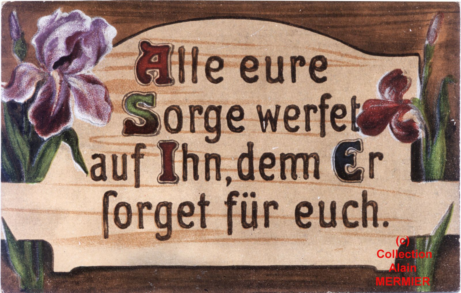 Iris -1942- Alle eure sorge....  Allemagne. Années 1910.