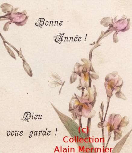 Iris -0733- Bonne Année. Dieu vous garde. Religion. France. 1903.