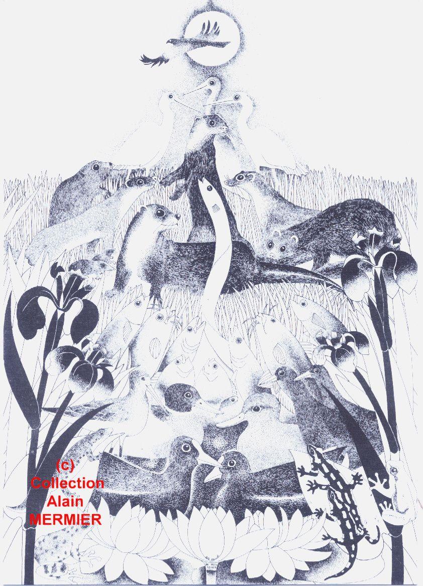 Iris -1897- Carte postale moderne. AR ROUE. Page de garde. France.1984.