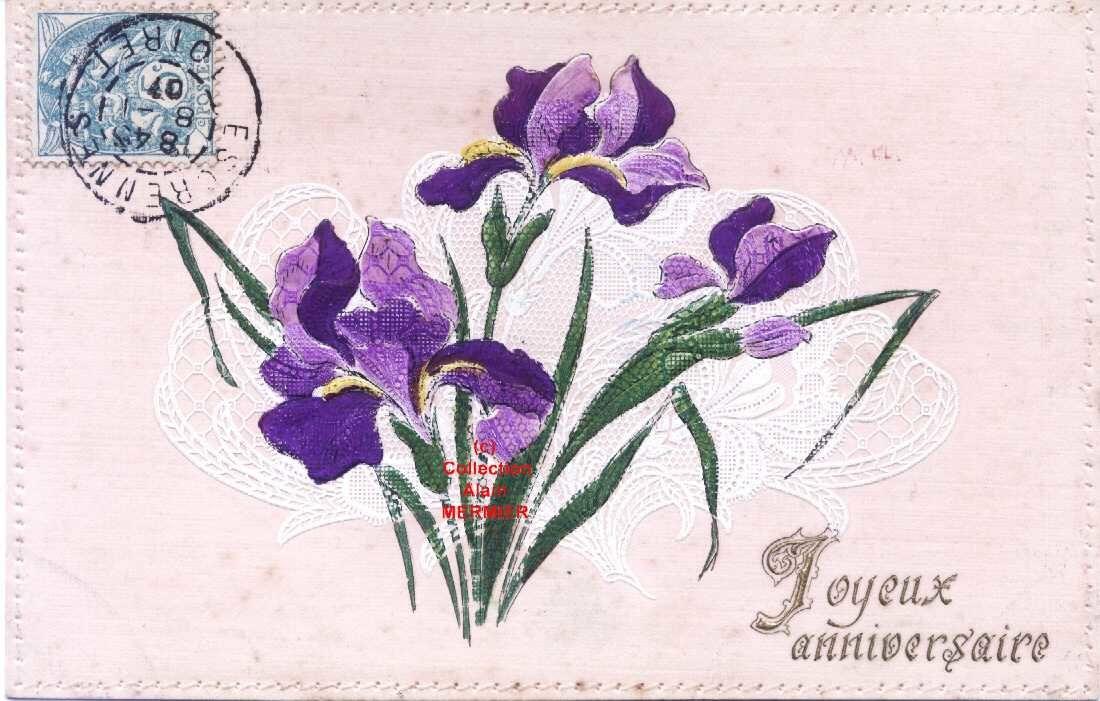 Iris - 1825 - Joyeux anniversaire. France. 1908.