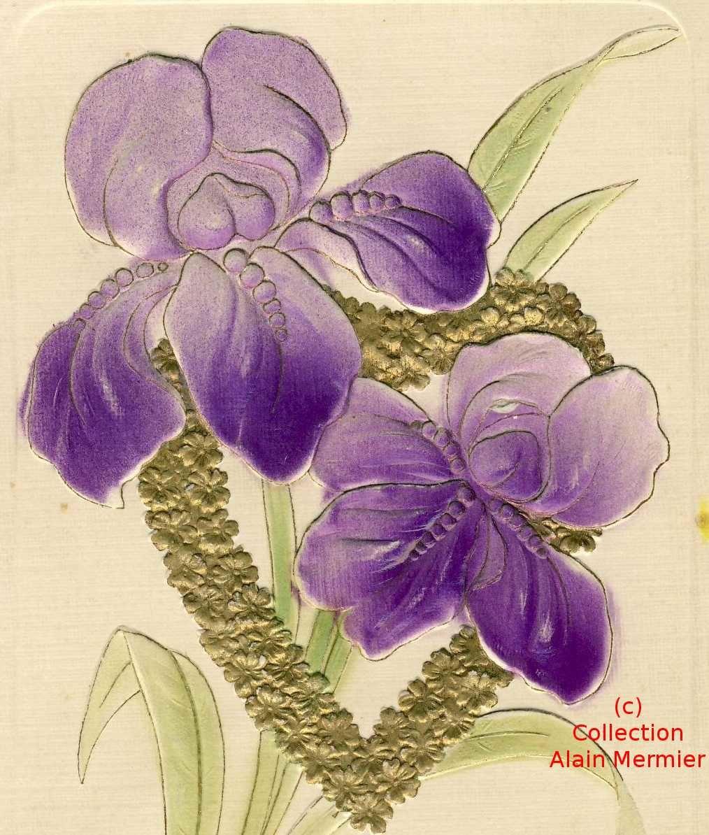 Iris -2322- Birthday greetings. Valentin's card. USA. 1909.