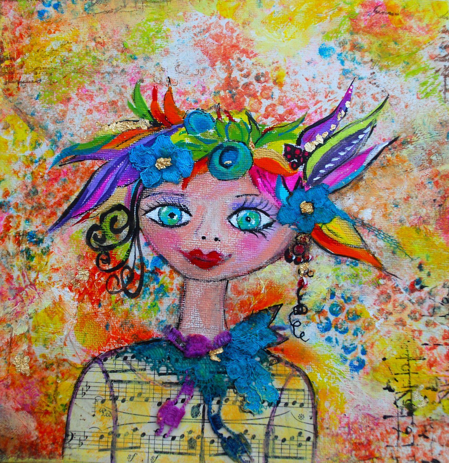 &quot&#x3B;Alice&quot&#x3B; Canvas  Mixed Media 20X20