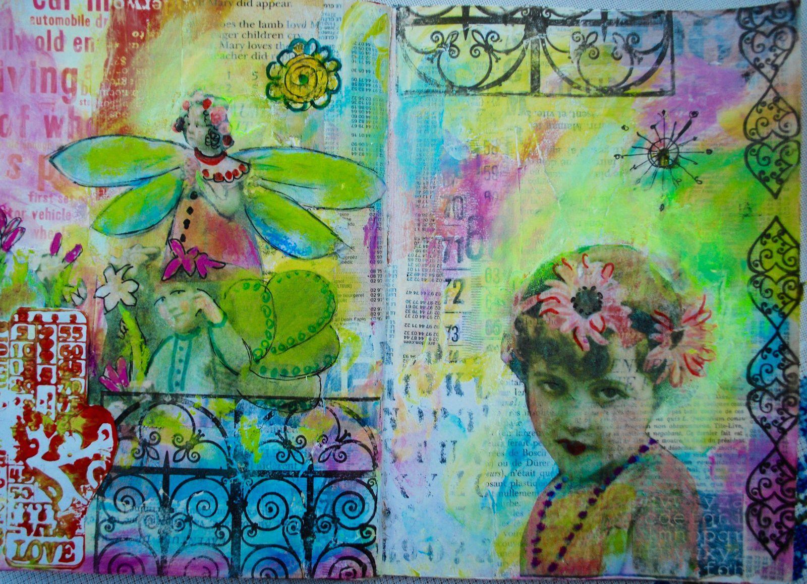 Art journal Françoise Melzani  j'ouvre les yeux sur....le vintage