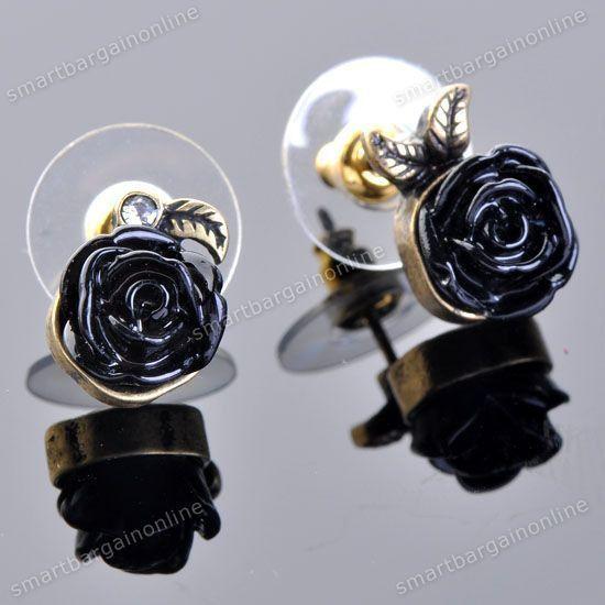 Boucles d'oreilles &quot&#x3B;dormeuses roses&quot&#x3B;
