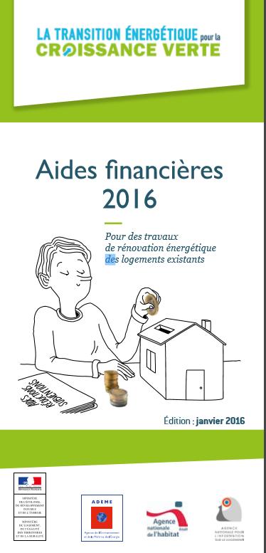 Travaux de rénovation : Aides financières 2016