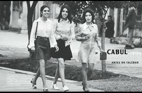 Young women in Kabul during the 70's! Short skirts, hair free!