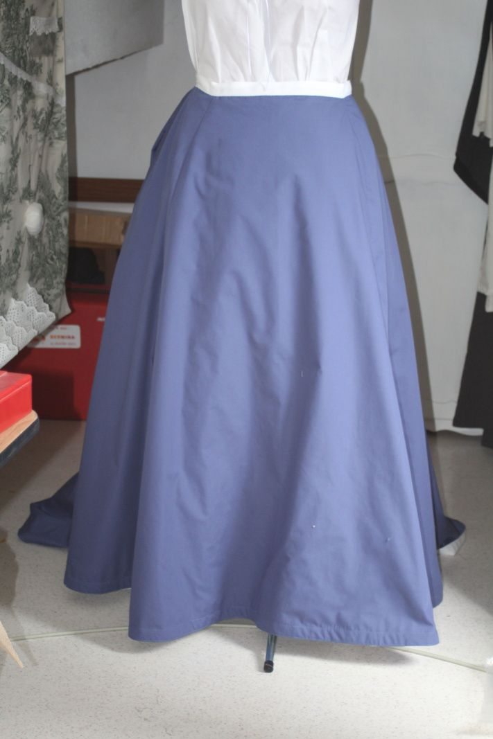 Tenue victorienne: La jupe / Victorian Outfit: The skirt