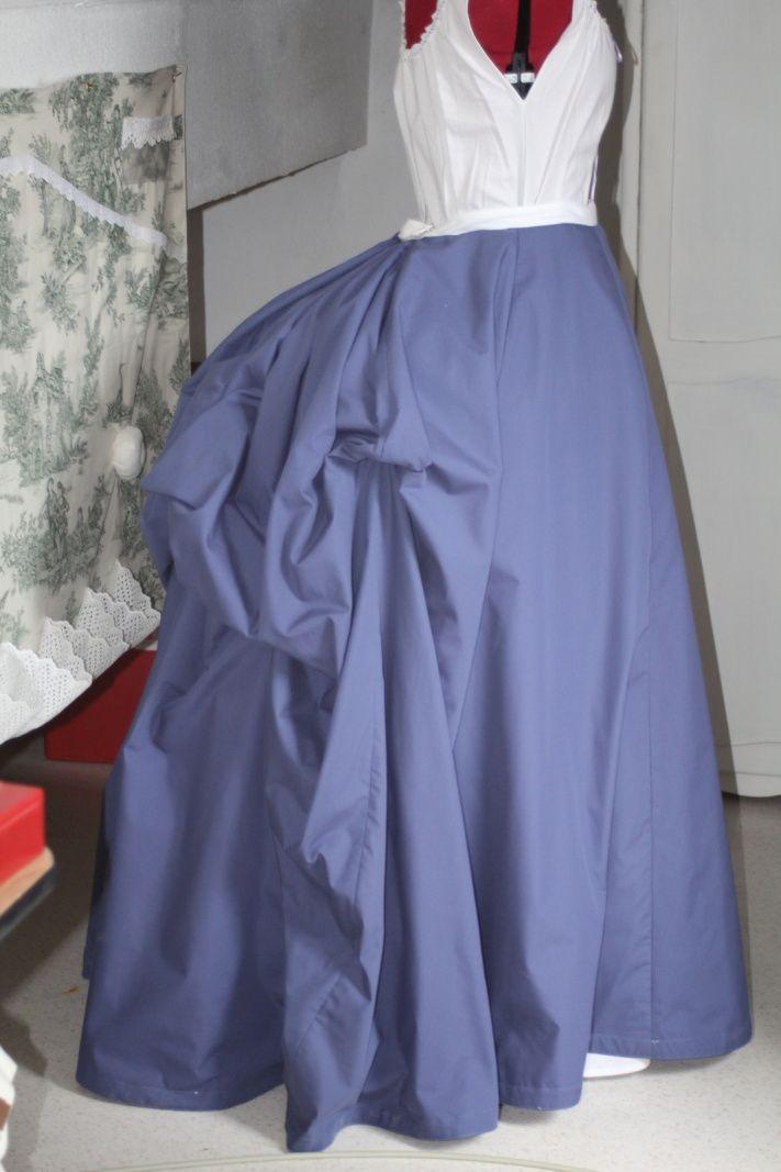 Tenue victorienne: La jupe, système de retroussage / Victorian Outfit: The skirt, lifting system