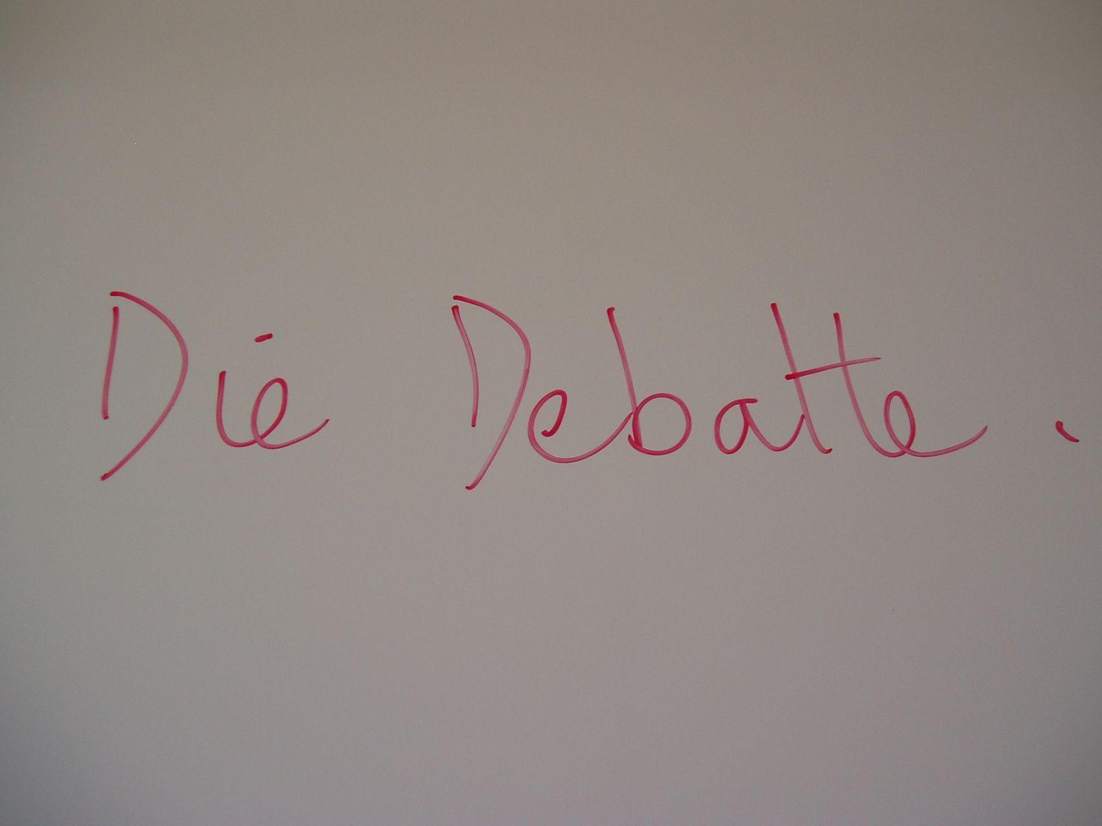 Die debatte  !