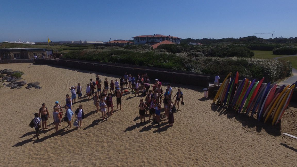 Initiation au surf - Photos prises par un drone.