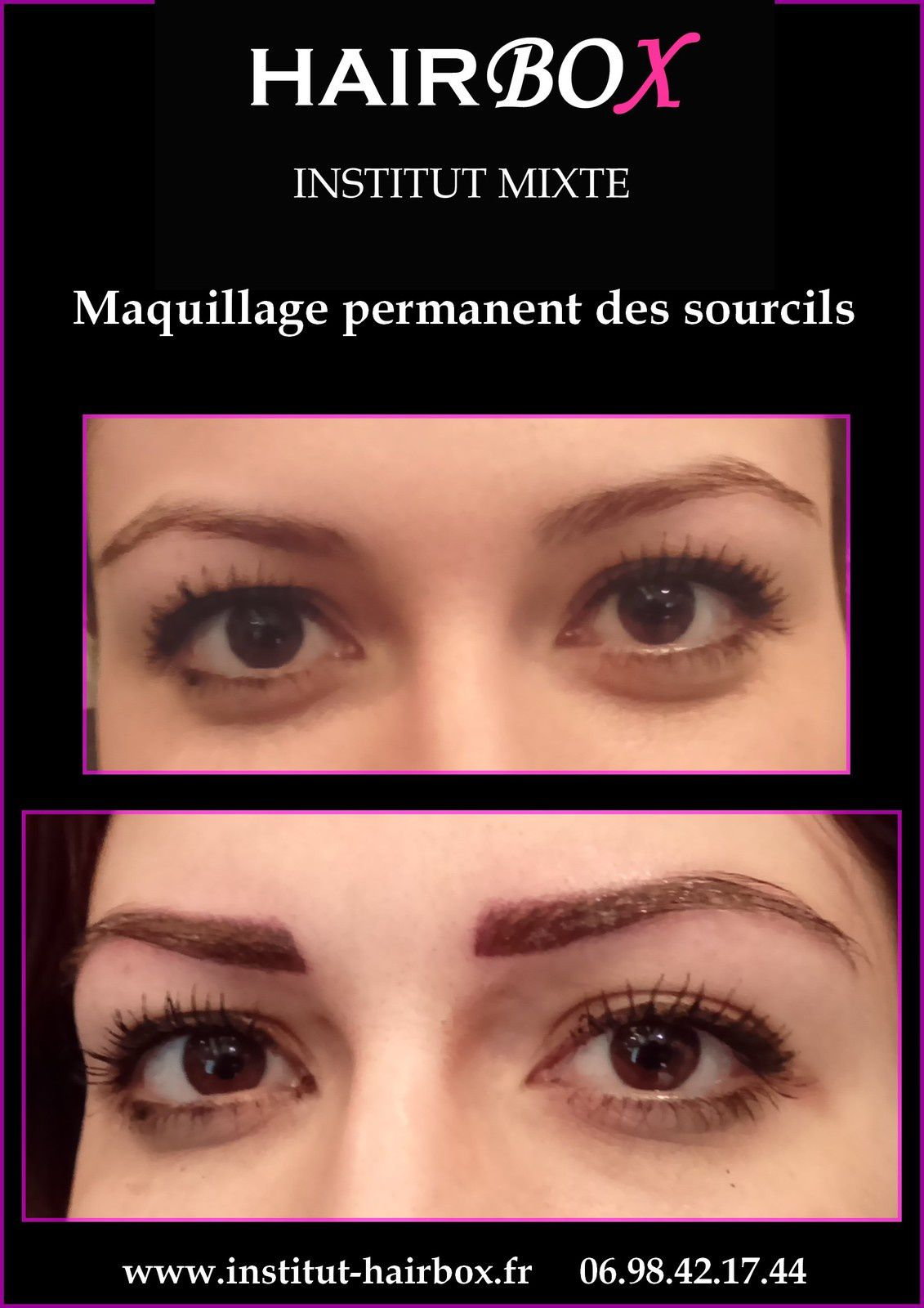 Maquillage semi permanent des sourcils aix