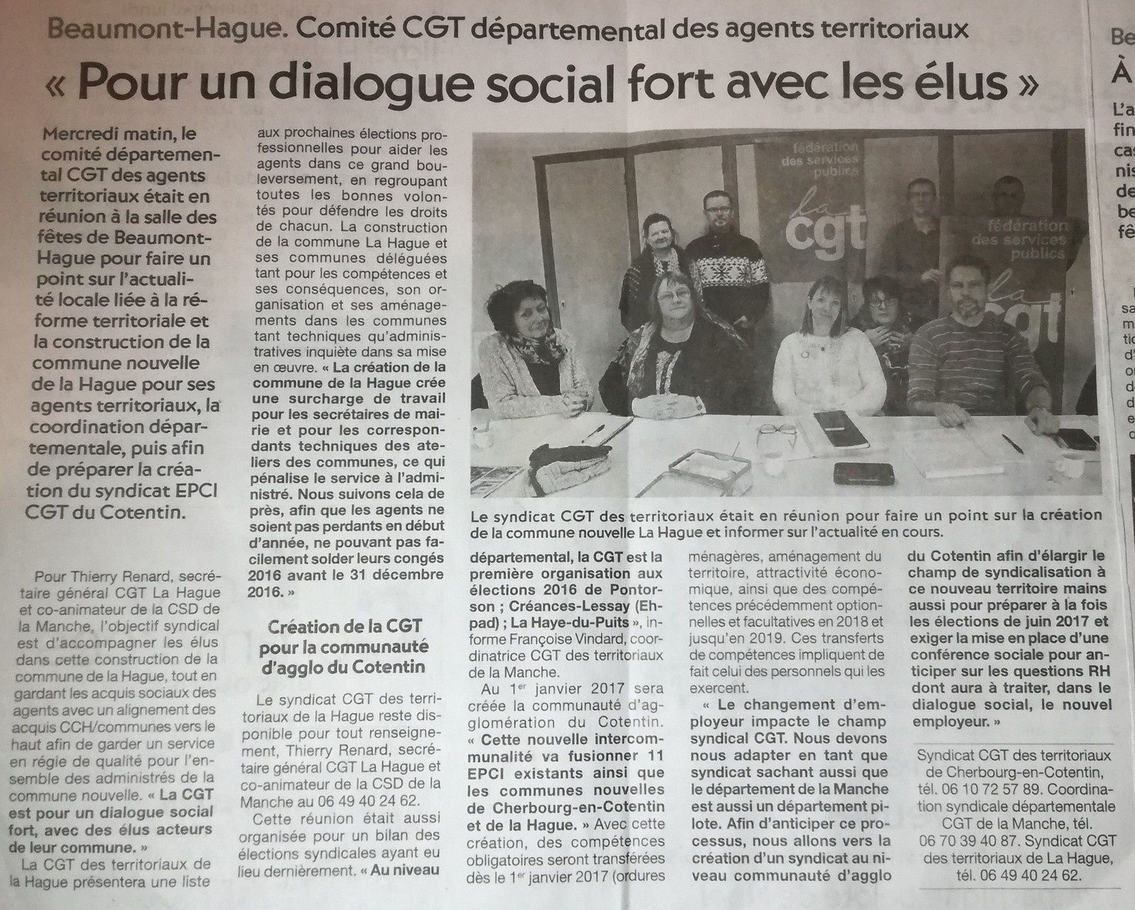 Un dialogue social avec la CGT