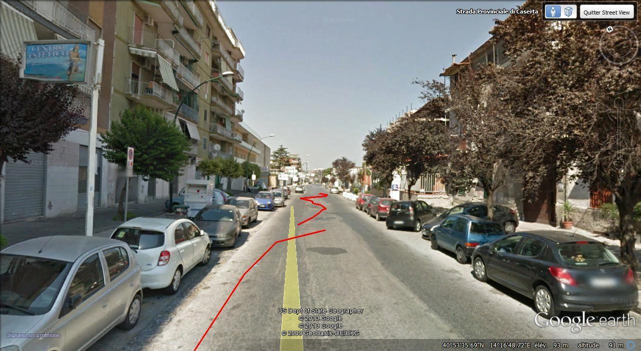 Naples à droite Casavatore ( 19.000 hab ) à gauche ( 6,5 km )